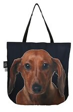 3D bag, tote bag, animal Cute & Unique Gift with DACHSHUND BROWN Handmade!