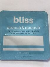 Bliss Drench & Quench Cream-To- Water Hydrator For All Day Moisture .07 fl. oz.