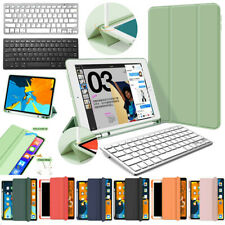 """For iPad Pro 11"""" 2nd Gen 2020 Slim Keyboard Leather Case Cover with Pencil Slot"""