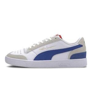Puma Ralph Sampson Lo Vintage Unisex Lifestyle Sneakers New White Blue 371767-01