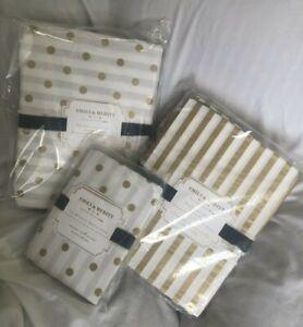 Pottery Barn Teen Emily Meritt Skinny Stripe Sheet Set Dottie Duvet & Sham Set