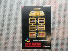 Notice Super nintendo / Snes manuel Arcade Greatest Hit PAL original Booklet *