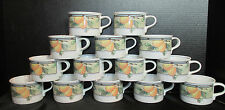 Mikasa Intaglio Garden Harvest Pattern #CAC29 Flat Coffee Tea Cups Set of 14