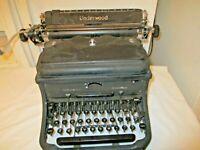 Vtg Underwood Noiseless Manuel Typewriter 10-60064-Heavy Black Metal #5916387