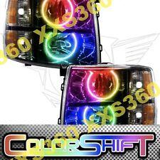ORACLE Halo BLACK HEADLIGHTS Chevrolet Silverado 07-13 COLORSHIFT NO Controller