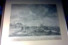 Jacques-Philippe Le Bas vue de skervin Scheveningen ORIGINAL Kupferstich 1750