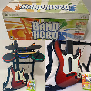 Xbox 360 Band Hero featuring Taylor Swift Super Bundle Complete Set Drums Guitar