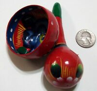 Hand Painted Decorative Ornaments Mini Bowl And Rattle