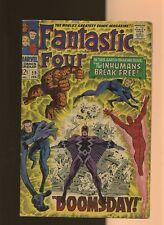 Fantastic Four 59 VG 3.5 * 1 * Inhumans! Silver Surfer! Stan Lee & Jack Kirby!
