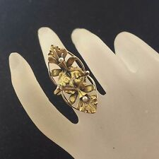 Antique Victorian Handcrafted Yellow Gold Floral Motif with Seed pearls Ring