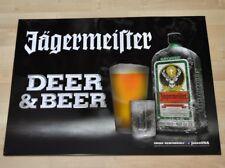 Jägermeister USA Blechtafel Blechschild 61 x 46 cm Tafel Schild - Deer & Beer