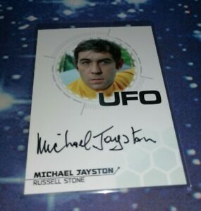 UFO Series 3 Trading Cards: Michael Jayston Silver Foil Autograph Card MJ2