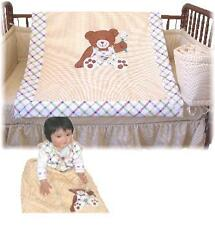 7pcs Baby Crib Bedding Set w/ Silk Comforter & SilkSac