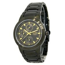 Casio Edifice EF308BK-1A Black-Tone Stainless Steel Mens Dress Watch Limited
