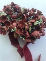 Vintage Flowers Embellishment Bouquet Dress Trim Costume Millinery Hat Dolls