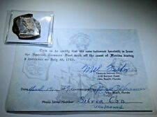 Mel Fisher 1969 COA 1715 Fleet Shipwreck 8 Reales Cob Silver Spanish 8 Real Coin