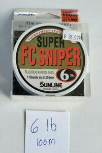 Sunline - FC Sniper Fishing Line - 6lb Fluorocarbon Line, 100m