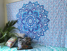 Indian Mandala Queen Size Wall Decorative Hanging Tapestry Cotton Bedspread