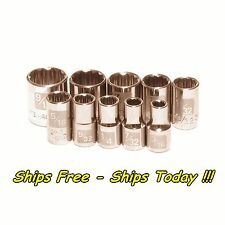 Craftsman 10pc 1/4 Drive 12pt Point SAE Laser Etch Easy Read Socket Set Standard