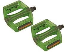 """New! Bicycle Translucent Resin Body 745p PC Pedals 9/16"""" Green 204-322"""