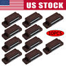 10pcs Magnetic Door Catches For Kitchen Cabinet Cupboard Wardrobe Latch Brown