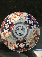 Antique Japanese Imari Porcelain Low Bowl Flowers and  birds decoration, MB142