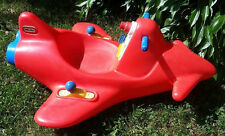 Vintage Little Tikes Airplane Rocket Rocker Child Baby Plane Red Indoor Outdoor
