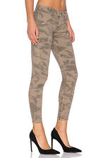 Current/Elliot The Silverlake Zip Ankle Skinny Mid-Rise Commando Camo Jeans 25