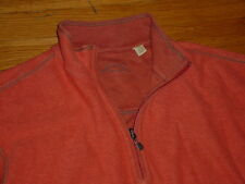 Tommy Bahama Mens 1/2 Zip Pullover Sweater Reversible Cotton Logos XXL Sharp!