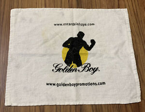 Vtg Oscar De La Hoya Towel Golden Boy Logo
