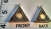 "ANAPHAXETON TETRAGRAMMATON triangle pendant + FREE 30"" NECK CORD!! STUNNING !!!!"