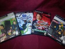 PS2 Game Pk- Set of 4- Disney PK, Splashdown, Smarter than 5th Grader, EyeToy