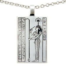 Seshat Goddess of writing and wisdom Pewter Pendant w Stainless Steel Necklace