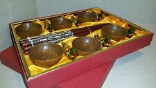 12 Wooden Fish Chopsticks 6 Duck Rest Holders Chinese 6 Sauce Japanese Box sushi