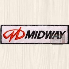 Midway Logo Embroidered Patch Mortal Kombat NBA Jam Ms Pac-man Spy Hunter Tron