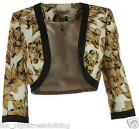 Jacques Vert Statement Women Ladies Floral Occasion Cropped Jacket Bolero Shrug