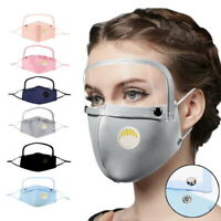 Adult Unisex Cotton Outdoor Windproof Face Protective Face Mask with Eyes Shield