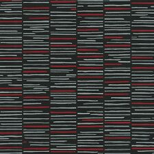 Black and Red Ladder Stripe Wallpaper Paste the Wall Horizontal Stripes 13384-10