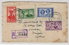 BECHUANALAND: 1947 REGISTERED ROYAL VISIT COVER TO SCOTLAND (C20189)