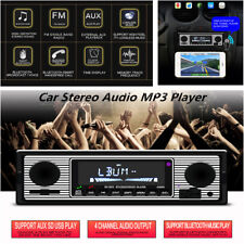 Car Radio Bluetooth Stereo MP3 Player USB/AUX/FM In-Dash Head Unit W/ Remote
