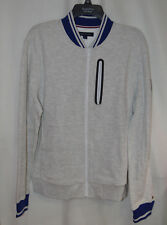 Tommy Hilfiger Mens L Grey / Blue Terry Full Zip Jacket -...
