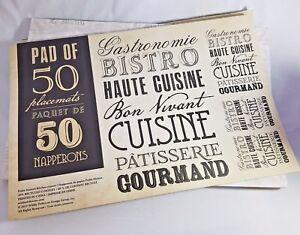 1/12/24/50 Retro Vintage  Paper Placement Table pads Mats Party Hotels Cafe Pub