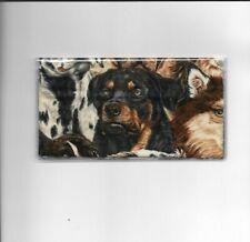ROTTWEILER CHECKBOOK COVER BRAND NEW FABRIC DOG DOGS BIG BOY