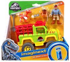 IMAGINEXT Jurassic World DR. GRANT AND 4X4 TRUCK RAPTOR  FIGURE JURASSIC PARK