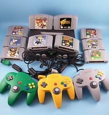 Nintendo 64 N64 Konsole mit Spiele und 2 Controller Mario Kart Zelda Donkey Kong