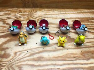 Pokemon Pokeball Keychain Basic Fun Lot 1999 Nintendo Vintage Rare