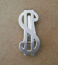 Vintage Dollar Sign Money Clip Silver Color