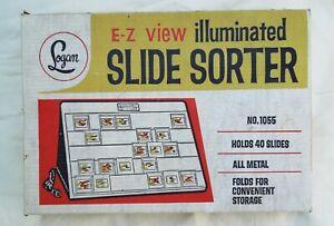 Logan No. 1055 E-Z View Illuminated Slide Sorter with original box