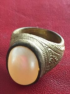 Holy Blessed Pearl Magic Ring Top Talisman Protective Lucky Life Thai Amulets