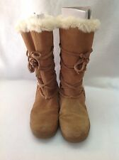 WHITE MOUNTAIN SUEDE BOOTS FAUX FUR SHERPA LINING LACE UP SZ 6 SNOW Boots